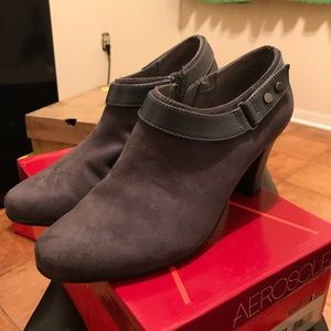 Gray suede  low boots